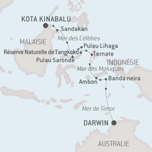 Ponant Austral 22.06.17 de Kota Kinabalu à Darwin