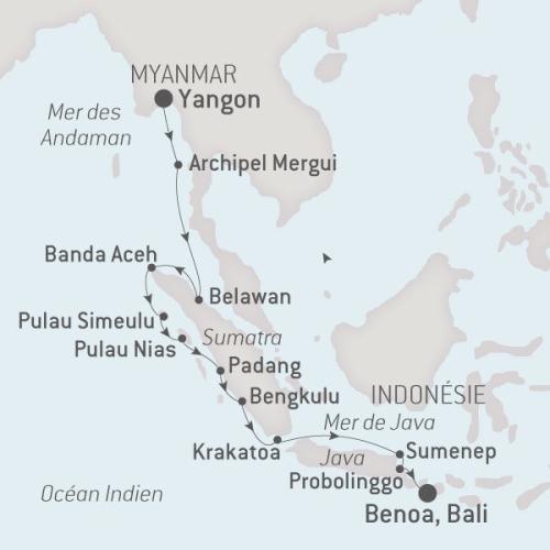 Ponant Austral, 09.11.17 de Yangon à Bali