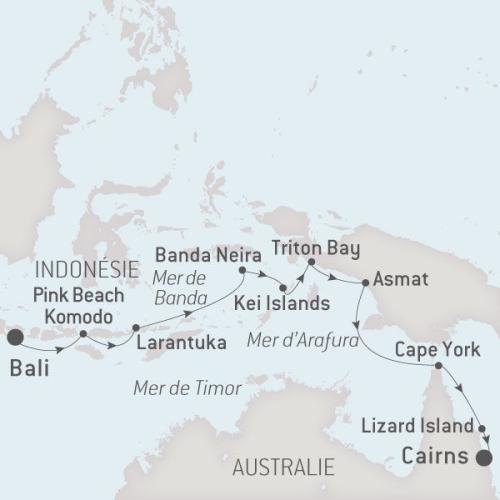 Ponant Austral, 24.11.17 de Bali à Cairns