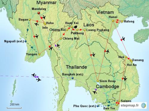 4 semaines en Asie