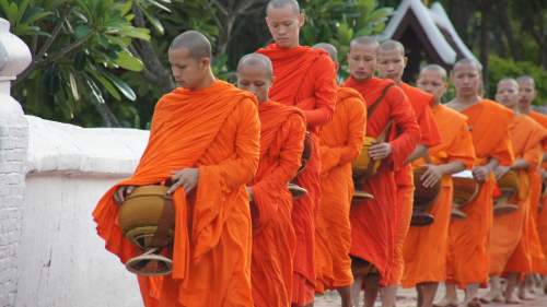 Laos, moines