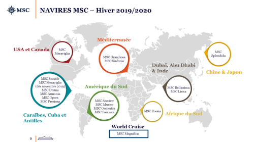 Position navires MSC hiver
