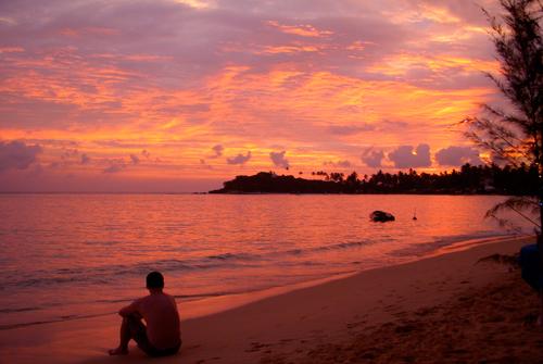 CMB Sunset on Unawatuna Beach