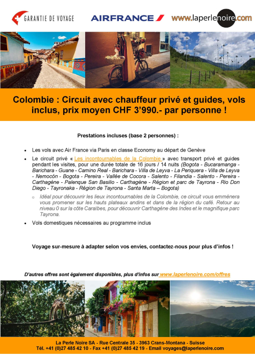 Flyer Colombie