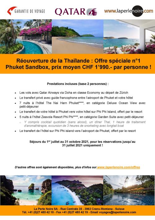 Offre spéciale Phuket Sandbox