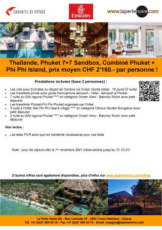 Offre 1 Phuket Sandbox 7+7
