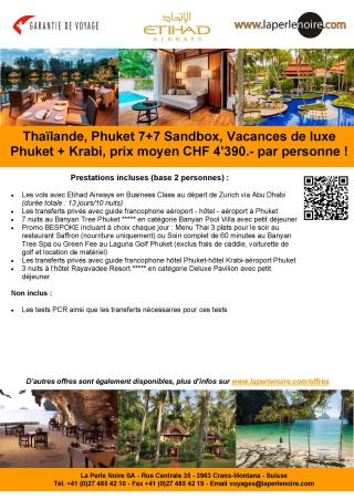 Offre 3 Phuket Sandbox 7+7