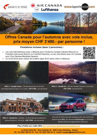 Offres Canada automne