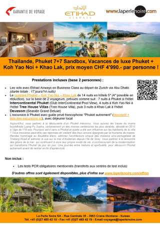 Offre 6 Phuket Sandbox 7+7
