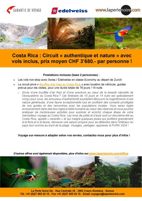 Flyer Costa Rica authentique