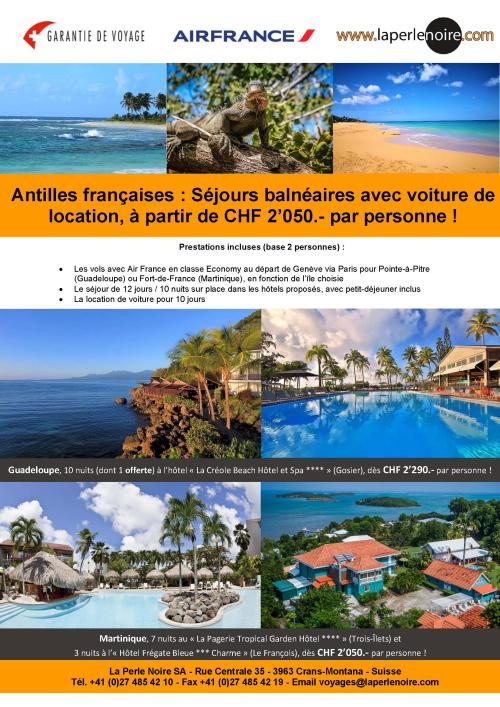 Flyer Antilles françaises