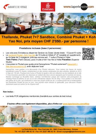 Offre 4 Phuket Sandbox 7+7